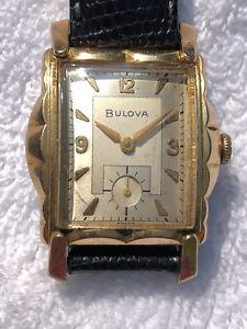 【送料無料】bulova art deco tank watch subsecond gorgeous case bulova crown stylish value