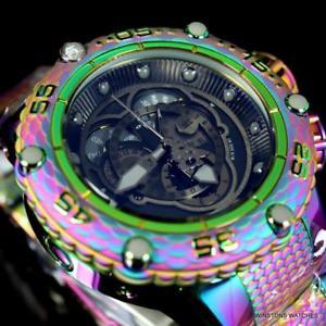invicta subaqua noma vi iridescent steel swiss master calendar 52mm watch