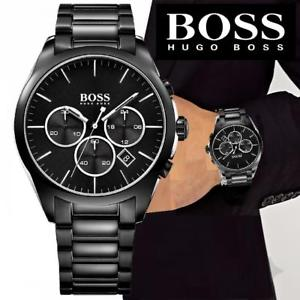 hugo boss 1513365 onyx chronograph herrenuhr  schwarzsilber neu