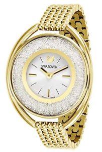 【送料無料】swarovski womens crystalline quartz gold tone stainless steel watch 5200339