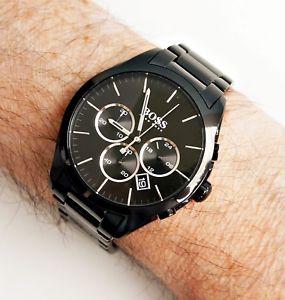 【送料無料】hugo boss 1513365 onyx chronograph herrenuhr schwarzsilber neu