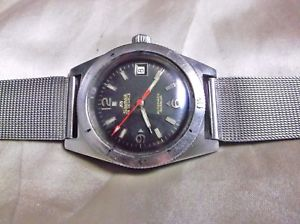【送料無料】vintage diver silvana swiss made 25 jewels automatic watch