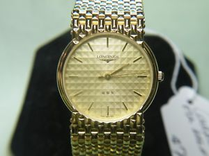 【送料無料】mens rare amp; vintage longines conquest gold swiss quartz watch nos 1617124
