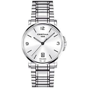 【送料無料】certina mens ds caimano 38mm steel bracelet quartz watch c0174101103700