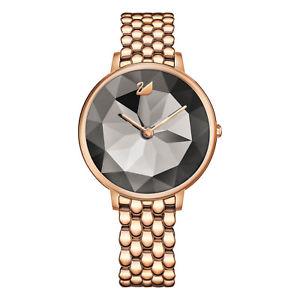 【送料無料】 swarovski crystal lake watch 5416023 dark grey rose gold tone 2 y warranty
