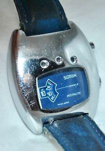 【送料無料】vintage 1973 sutton 17j instalite jump hour digital watch wlight feature works