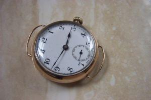 【送料無料】a 9k cased zenith manual wind watch c1927 running but in need of a service