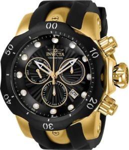 【送料無料】24257 invicta mens venom quartz stainless steel and silicone casual watch