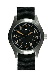 【送料無料】mwc a17 1950s us army korean war issue 24 jewel automatic satin silver
