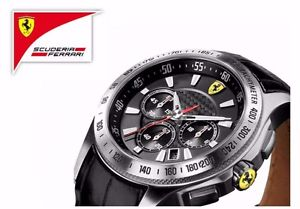 【送料無料】nib scuderia ferrari mens sf105 scuderia chronograph watch 0830039