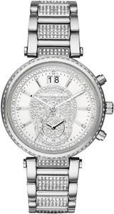 【送料無料】michael kors sawyer mk6281 glitz watch womens crystals stainless steel