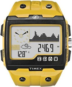 【送料無料】* timex expedition ws4 watch t49758 yellow altimeter compass barometer abc