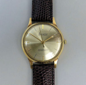 【送料無料】vintage accurist 21 jewel manual wind 9ct gold wristwatch c1960 in gwo