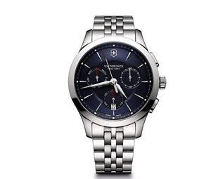 【送料無料】595 victorinox mens alliance swiss quartz stainless steel casual watch