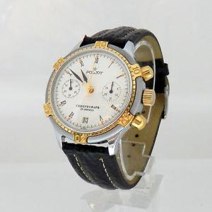 送料無料 poljot chronograph handaufzug teils verg herrenuhr russland 23 jewels kal3133