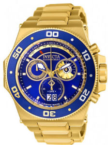 【送料無料】26050 invicta mens akula quartz chrono 300m gold tone stainless steel watch
