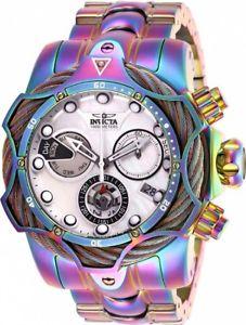 【送料無料】invicta mens reserve quartz chrono 1000m iridescent stainless steel watch 26657