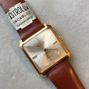 【送料無料】8760 astrolux vintage watch nos 30mm carica manuale mai indossato