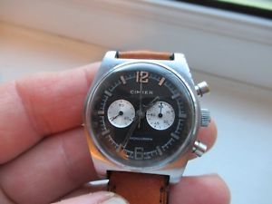 vintage cimier chronograph from the late 1950s60s full service hand made strap