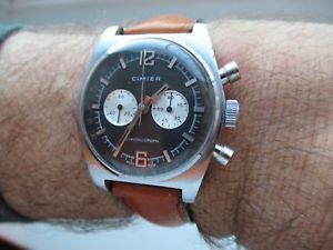 【送料無料】vintage cimier chronograph from the late 1950s60s full service hand made strap