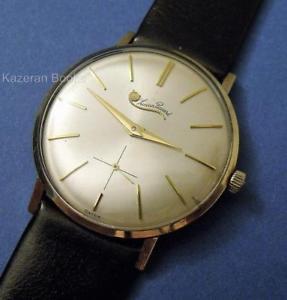 【送料無料】vintage mans working watch lucien piccard 14ct gold plated wristwatch working