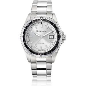 【送料無料】orologio uomo philip watch caribe r8253597021 acciaio silver swiss made 100mt