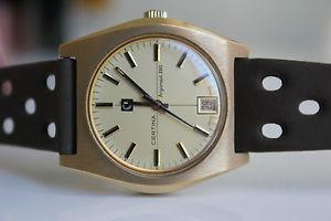 certina argonaut 280  20m gold 19711973 *nos*