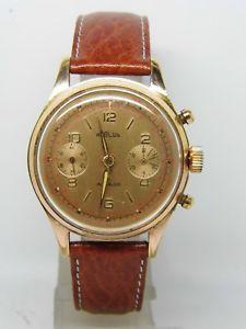 【送料無料】chronographe regilux plaqu or mouvement landeron 248,vintage chrono