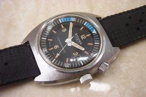 【送料無料】a vintage sicura divers calender watch c, early 1970s