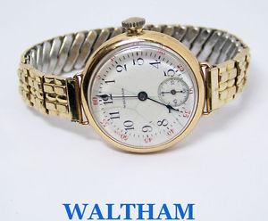 gold yellow winding ladies waltham 1920s* 14k serviced watch 【送料無料】vintage