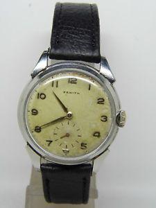 montre zenith boite acier mouvement 1266 vintage znith 19501960