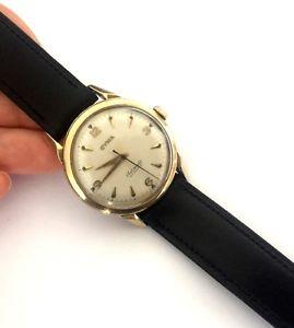 vintage cyma automatic watersport swiss classy mens wrist watch r420 1950 runs
