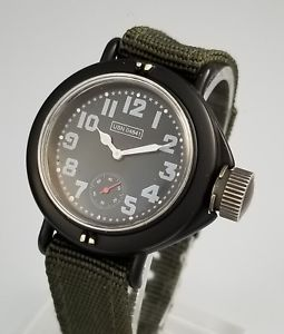 rare j peterman usn frogman case military canteen watch  limited ed 660 of 3000