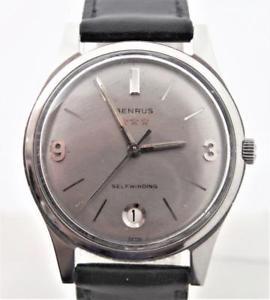 7026* watch automatic exlnt mens benrus 【送料無料】ssteel vintage condition* serviced