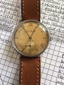 【送料無料】steel calatrava oversize fort watch staybrite vintage watch 1940
