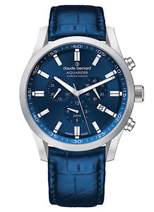 【送料無料】claude bernard aquarider chronograph datum quarz 10222 3c buin1