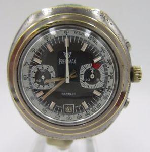 【送料無料】l201vintage precimax chronograph handaufzug herrenuhr kal7734