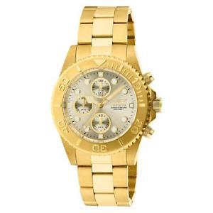 【送料無料】invicta mens gold stainless steel water resistant wristwatch os bhfo 7100