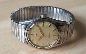【送料無料】gents vintage longines silvergines manual winding wrist watch longines bracelet