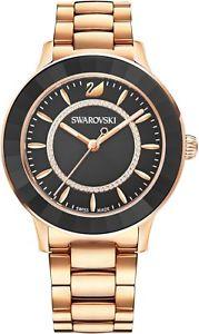 【送料無料】orologio swarovski octea lux 5414419 donna watch acciaio oro rosa cristallo nero