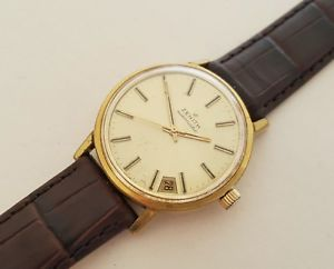【送料無料】gents vintage gold plated zenith automatic wrist watch