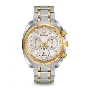 【送料無料】bulova 98a157 mens curv chronograph watch