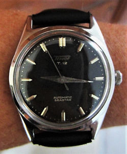 【送料無料】gents 1950s ss tissot t12 seastar automatic 17j watch cal 285r21 serviced