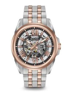 【送料無料】bulova mens classic automatic two tone watch 98a166 brand