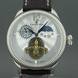 【送料無料】constantin weisz 22 jewels open heart wrist watch automatic day night