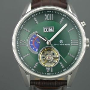 【送料無料】constantin weisz gents automatic 22 jewels open heart wrist watch