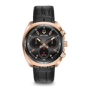 【送料無料】bulova 98a156 mens curv chronograph watch