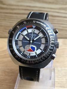 【送料無料】vintage sicura chrono graphe watch