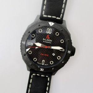 【送料無料】allesandro baldieri mens automatic 48mm carbon fiber magnum m48 diver