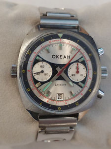 【送料無料】okean okeah, poljot sturmanskie chronograph cal 3133 russian watch as is fix